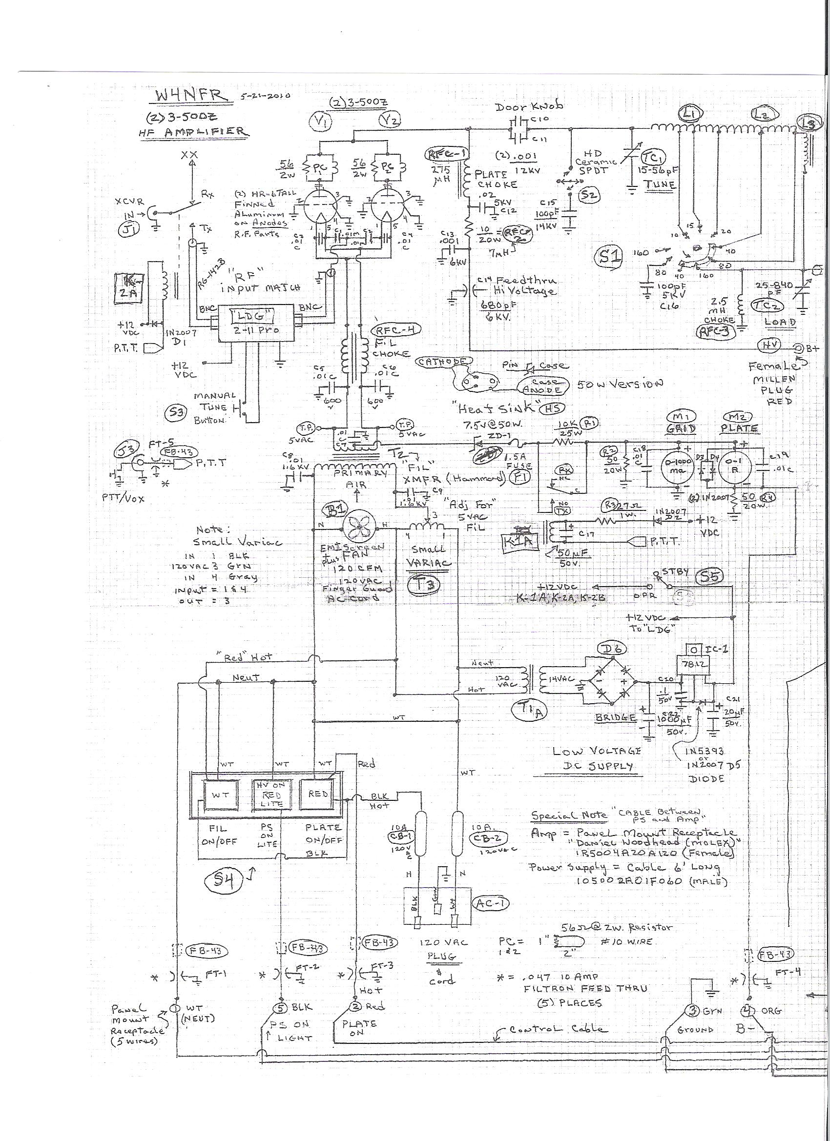 3 500Z Amplifier Schematic 2 3 500z amplifier project,Microwave Transformer Arc Capacitor Wiring Diagram