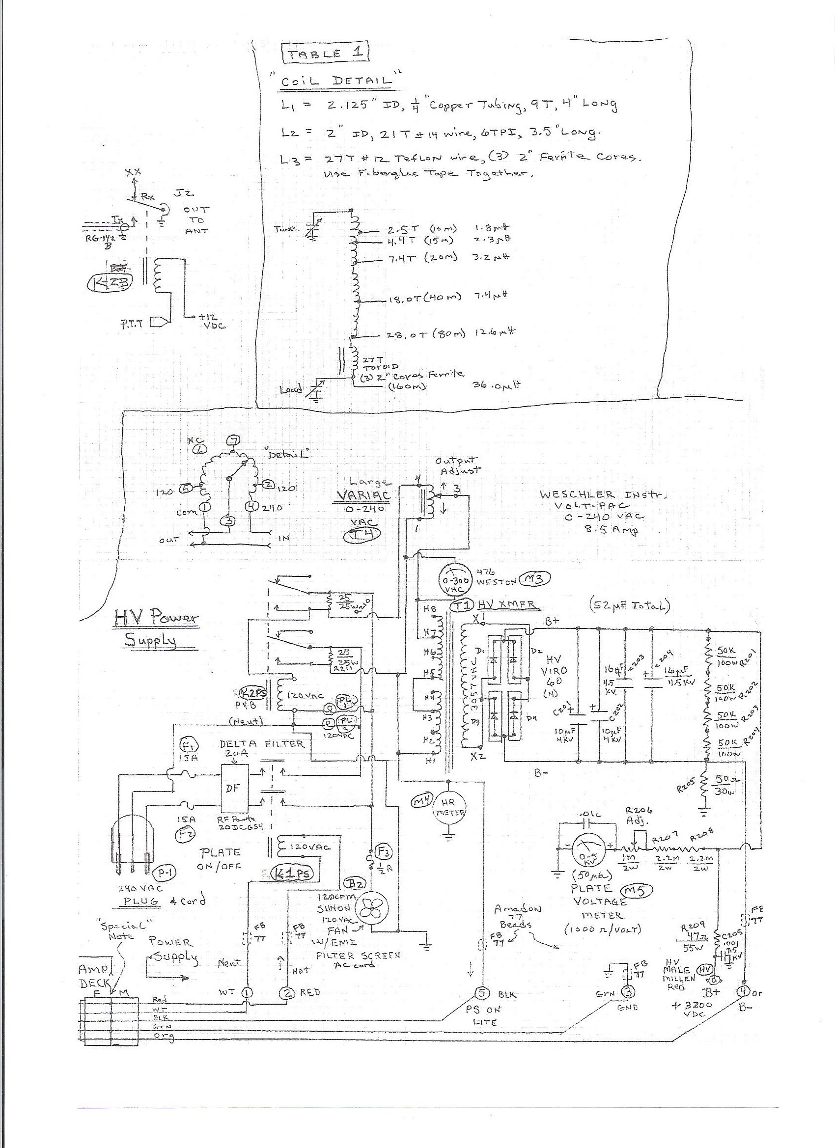 3 500z Amplifier Project Transformer Circuit Tube Lifier Atx Power Supply Schematic High Voltage